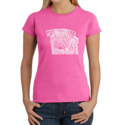 Los Angeles Pop Art Pug Face Graphic T-Shirt