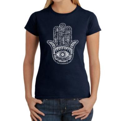 Los Angeles Pop Art Hamsa Graphic T-Shirt