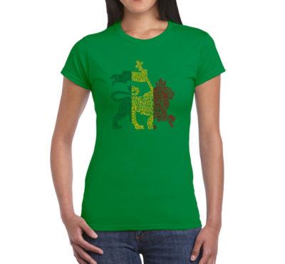 Los Angeles Pop Art Rasta Lion - One Love GraphicT-Shirt