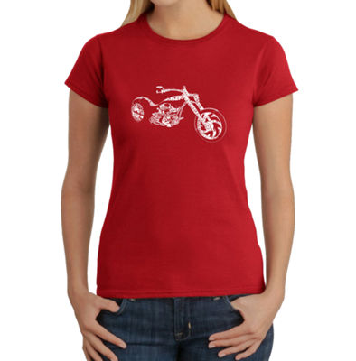 Los Angeles Pop Art Motorcycle Graphic T-Shirt