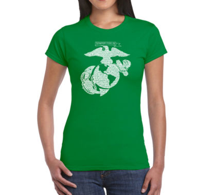 Los Angeles Pop Art Lyrics To The Marines Hymn Graphic T-Shirt