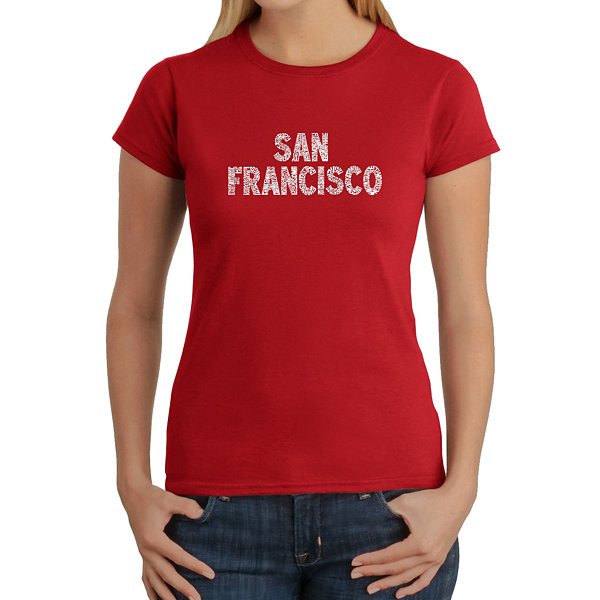 Los Angeles Pop Art San Francisco Neighborhoods Graphic T-Shirt