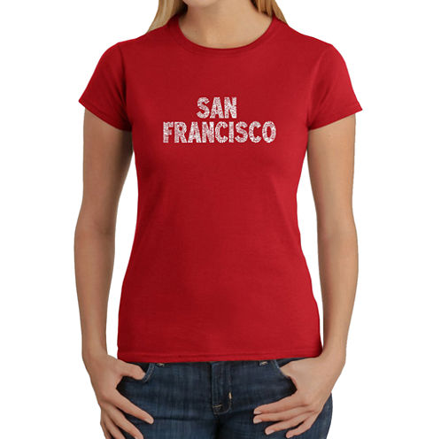 Los Angeles Pop Art San Francisco Neighborhoods Graphic T-Shirt