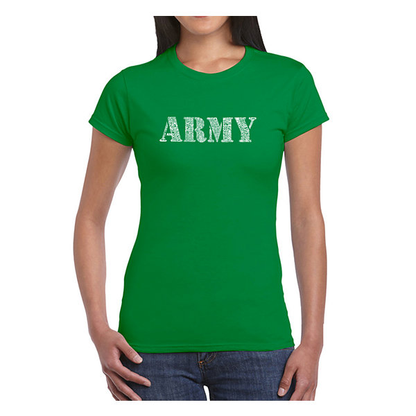 Los Angeles Pop Art Lyrics To The Army Song Graphic T-Shirt