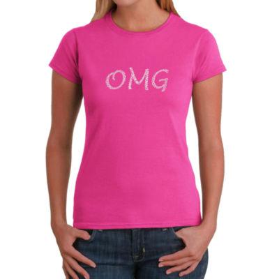 Los Angeles Pop Art Omg Graphic T-Shirt