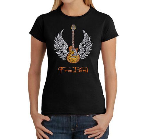Los Angeles Pop Art Lyrics To Freebird Graphic T-Shirt
