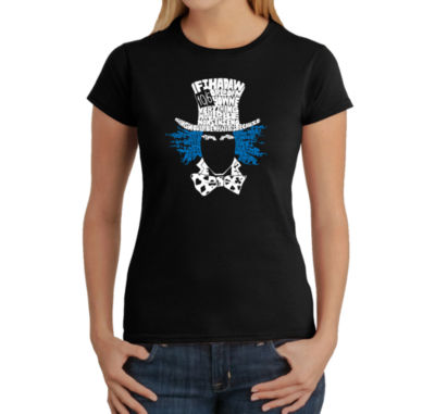 Los Angeles Pop Art The Mad Hatter Graphic T-Shirt