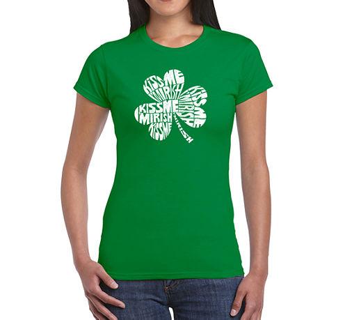 Los Angeles Pop Art Kiss Me I'M Irish Graphic T-Shirt