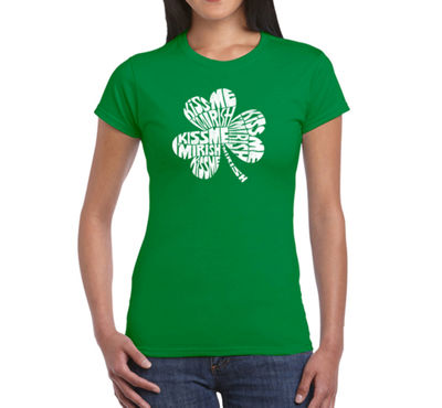 Los Angeles Pop Art Kiss Me I'M Irish Graphic T-Shirt
