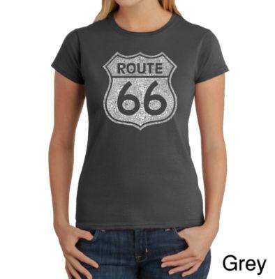 Los Angeles Pop Art Cities Along The Legendary Route 66 Graphic T-Shirt