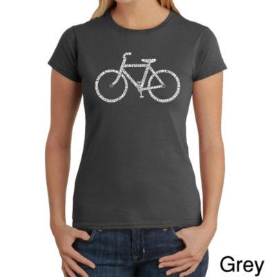 Los Angeles Pop Art Save A Planet; Ride A Bike Graphic T-Shirt