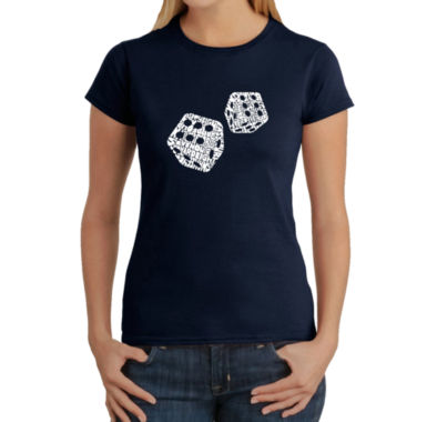 Los Angeles Pop Art Different Rolls Thrown In TheGame Of Craps Graphic T-Shirt