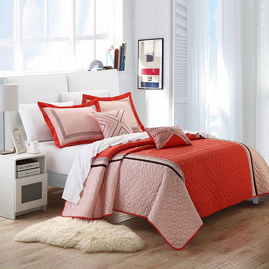 Chic Home Rio 9-pc. Embroidered Quilt Set