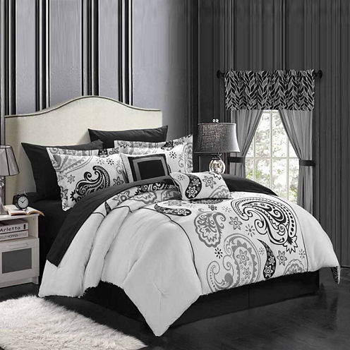 Chic Home Olivia Reversible 20-pc. Midweight Reversible Comforter Set