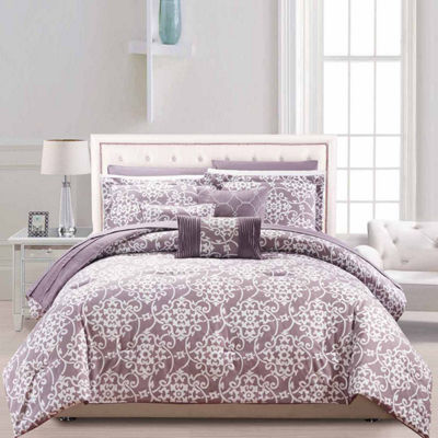 Chic Home Lea 10-pc. Midweight Reversible Comforter Set