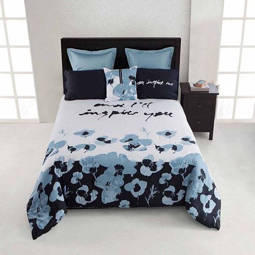 Kensie Blue Poppy 3-pc. Comforter Set