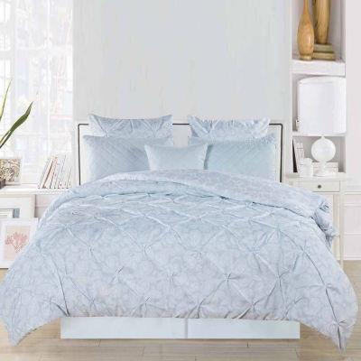 Home Maison Surus Reversible Pintuck Printed Comforter Set