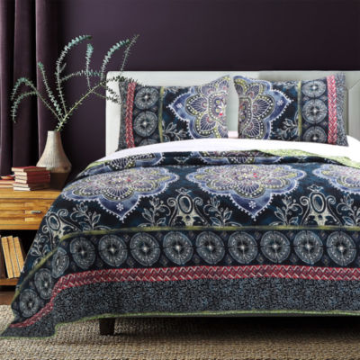 Barefoot Bungalow Twyla (Midnight) Quilt Set