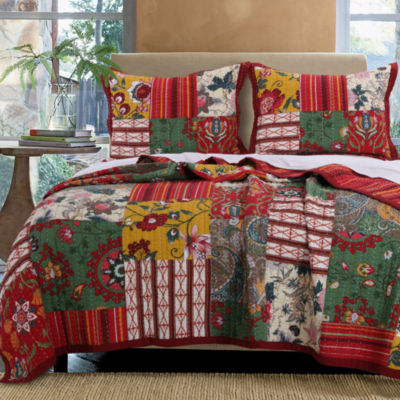 Greenland Home Fashions Arcadia Bohemian Quilt Set