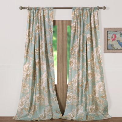 Barefoot Bungalow Naomi (Spa) Rod-Pocket Curtain Panel
