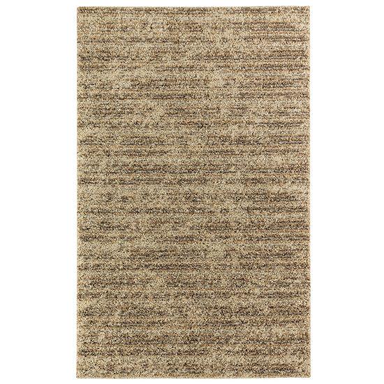 Mohawk Home Neutral Stripe Rectangular Indoor Rugs