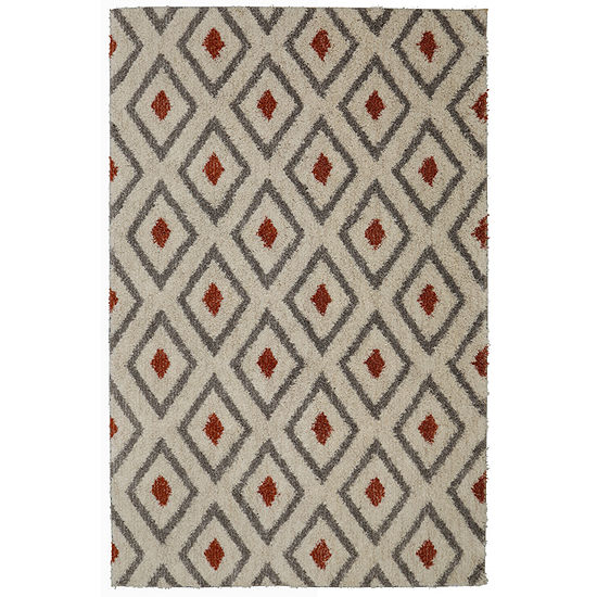 Mohawk Home Tribal Diamond Rectangular Indoor Rugs