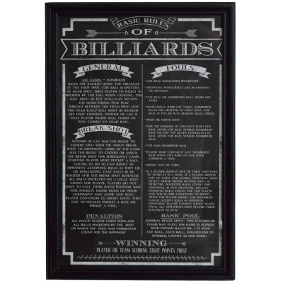 Hathaway Billiard Game Rules Print