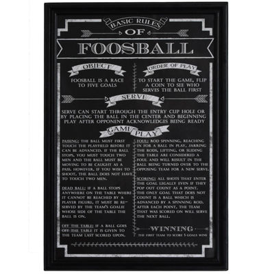 Hathaway Foosball Game Rules Sports Print