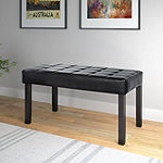 Corliving California 24 Panel Tufted Bench