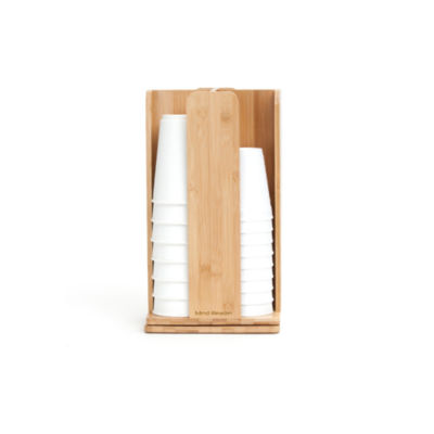 Mind Reader 'Tawny' Spinning Cup and Lid Holder, Bamboo Wood