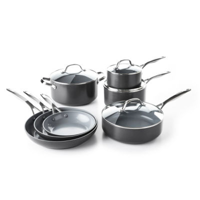 GreenPan Valencia Pro 11-pc. Aluminum Dishwasher Safe Cookware Set