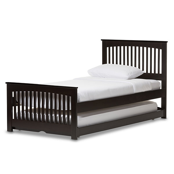 Baxton Studio Hevea Twin Platform With Guest Trundle Bed