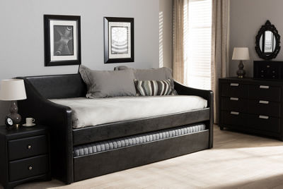 Baxton Studio Barnstorm Twin With Guest Trundle Daybed