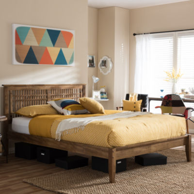 Baxton Studio Loafey Windowpane Platform Bed