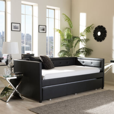 Baxton Studio Frank Twin With Roll-Out Trundle Daybed