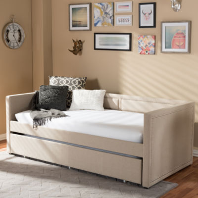 Baxton Studio Raymond  Twin With Roll-Out Trundle Daybed