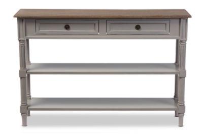 Baxton Studio Edouard 2-Drawer Console Table