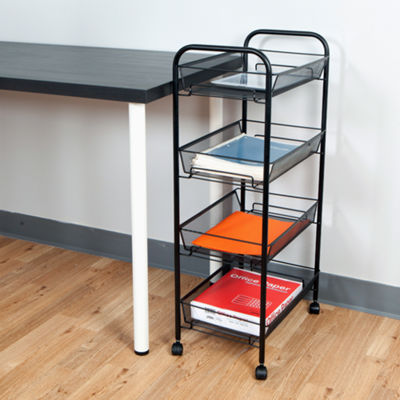 Mind Reader ' Roll ' Rolling 4-Shelf Cart