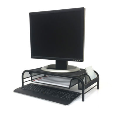 Mind Reader ' Raise ' Monitor Stand With Drawer