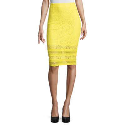 Project Runway Lace Trim Pencil Skirt
