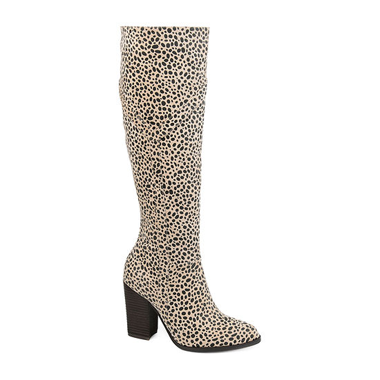 Journee Collection Womens Kyllie Stacked Heel Dress Boots