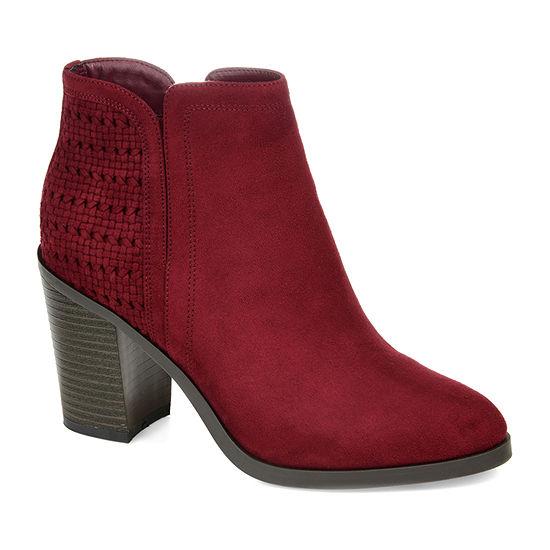 Journee Collection Womens Jessica Stacked Heel Booties