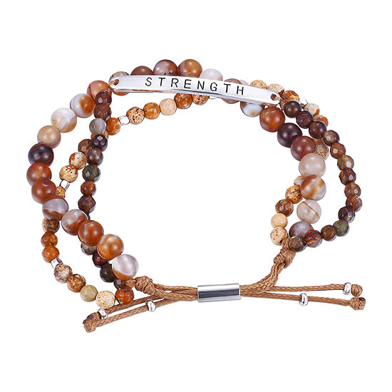 Footnotes Brown Agate Bead Strand Bracelets