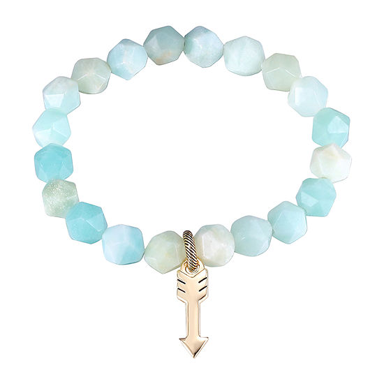 Footnotes Multi Color Amazonite Gold Tone Beaded Bracelet