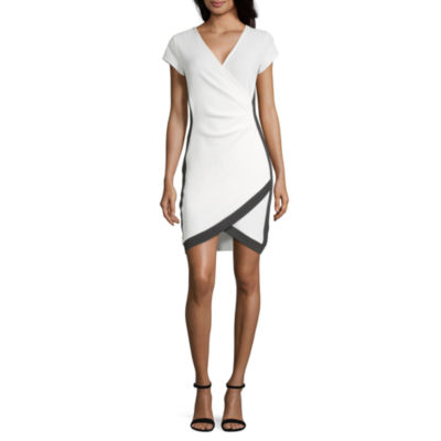 Almost Famous Short Sleeve Bodycon Dress-Juniors