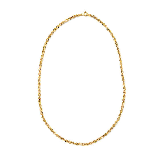 Made in Italy 14K Gold 18 Inch Semisolid Rope Chain Necklace