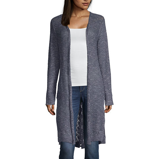 Artesia Womens Long Sleeve Open Front Cardigan