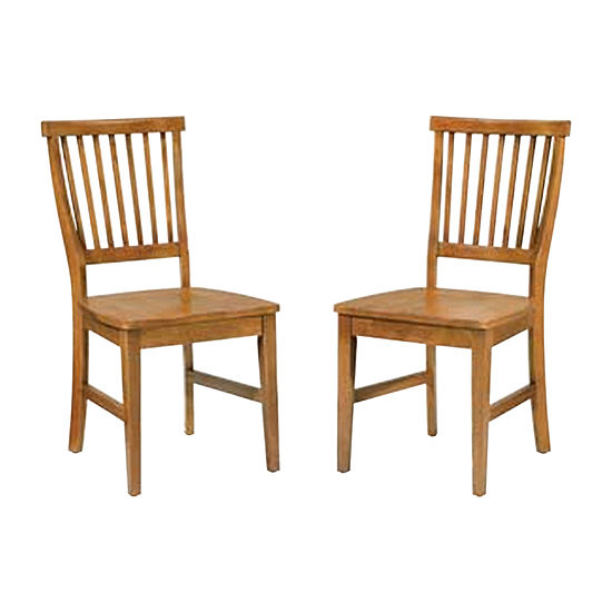 Arts and Crafts Pair of Dining Chairs