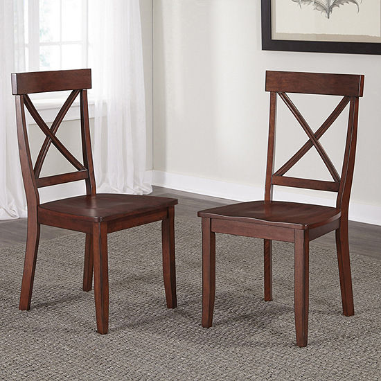 Jcpenney Dining Chairs: Conway Pair Of Dining Chairs, Color: Oak