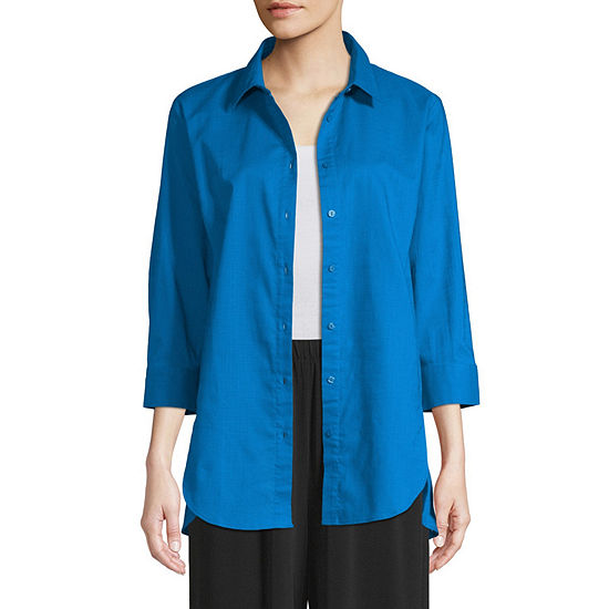 east 5th Womens 3/4 Sleeve Tunic Top